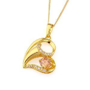 18k gold plating brass cubic zirconia pendant jadeite bracelet tourmaline