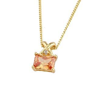 18k gold plating brass cubic zirconia pendant sapphire ring tourmaline bracelet