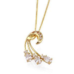 18k gold plating brass cubic zirconia pendant rhinestone fashiong ring jewelry