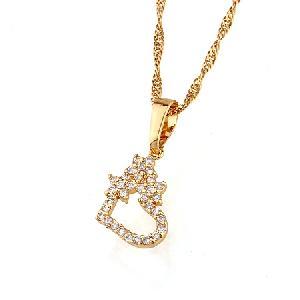 18k gold plating brass cubic zirconia pendant titanium ring costume jewelry bracelet
