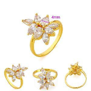 18k gold plating brass cubic zirconia ring drop earring cz jewelry rhinestone fashion jewelr