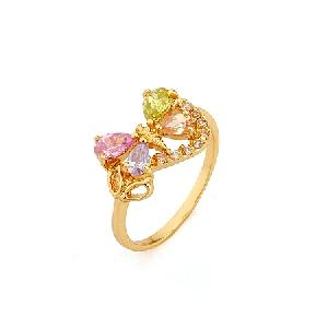 18k gold plating brass cubic zirconia ring fashion cz jewelry silver bracel
