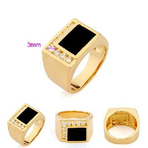 18k gold plating brass cubic zirconia ring male precious stone fashion earring penda