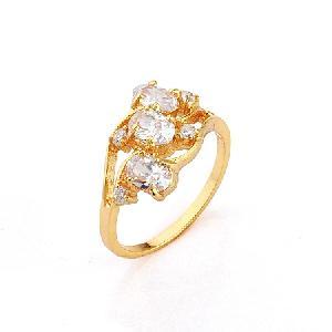 18k gold plating brass cubic zirconia ring sterling silver jewelry fashion titanium bracelet