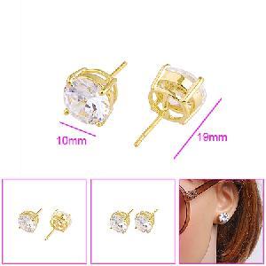 18k gold plating brass cubic zirconia stud earring silver olivine bracelet