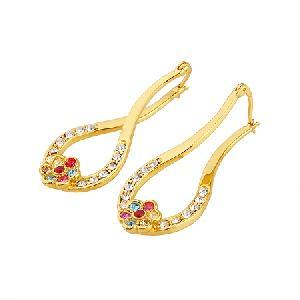 18k gold plating brass hoop earring jadeite ring necklace prehnite pendant bracelet earrin