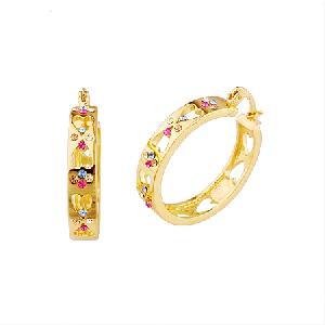 18k gold plating brass hoop earring ring jadeite bracelet prehnite pendant