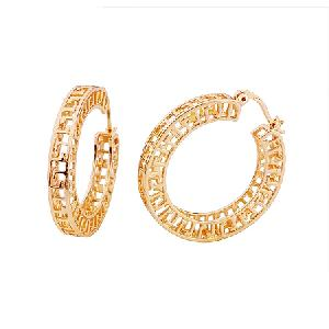 18k gold plating brass hoop earring titanium plated bracelet cz jewelry