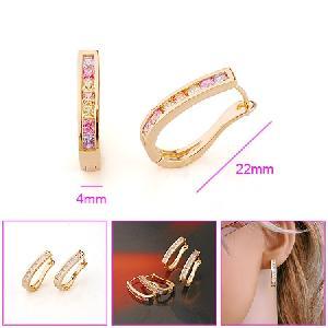 18k gold plating brass hoop earrings cz jewelry earring silver pearl necklace