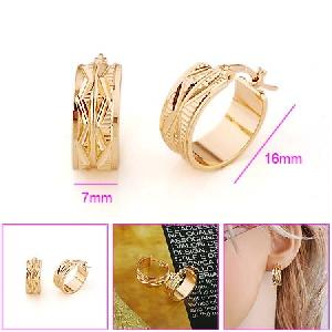 18k gold plating brass hoop earrings fashion costume bracelet silver necklace