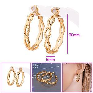 18k gold plating brass hoop earrings fashion cz ring costume jewelry bracelet necklace