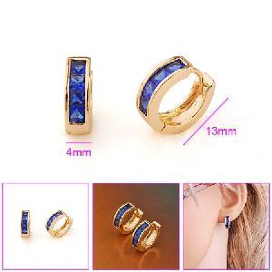 18k gold plating brass hoop earrings pendant bracelet fashion cz jewelry