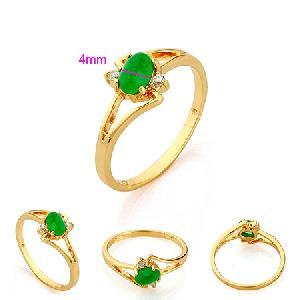 18k gold plating brass jade ring rainbow stone bracelet fashion costume jewelry pendant