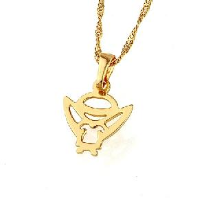 18k gold plating brass pendant fashion precious stone jewelry ring earring