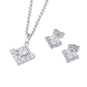 rhodium plated brass cubic zirconia jewelry cz fashion ring pendant