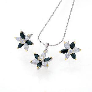 rhodium plated brass cubic zirconia jewelry costume ring bracelet fashion cz