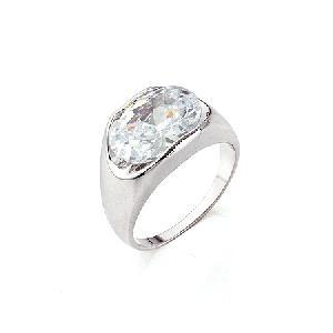 rhodium plated brass cubic zirconia ring cz pendant rhinestone fashion jewelry