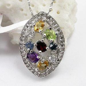 sterling silver gemstone pendant ring citrine bracelet chalcedony earring