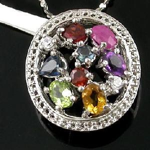 sterling silver mix gem pendant cz fashion jewelry prehnite ring rainbow stone