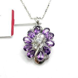 sterling silver amethyst pendant citrine bracelet earring moonstone