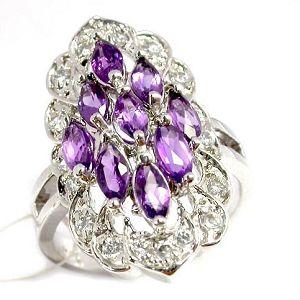 sterling silver amethyst ring citrine earring sapphire bracelet ruby