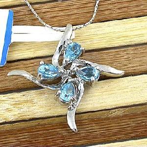 sterling silver blue topaz pendant citrine bracelet gem stone ring chalcedony earr