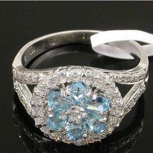 sterling silver blue topaz ring chalcedony earring garnet bracelet olivine pendant