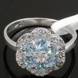 sterling silver blue topaz ring ruby citrine bracelet amethyst pendant