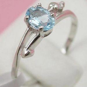 sterling silver blue topaz ring tourmaline earring amethyst bracelet ruby