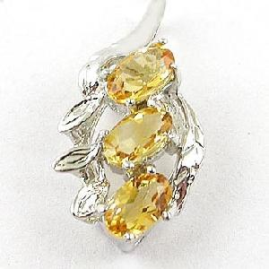 sterling silver citrine pendant prehnite ring garnet tourmaline olivine nec