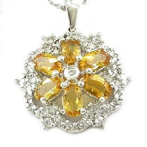 sterling silver citrine pendant sapphire ruby ring earring bracelet