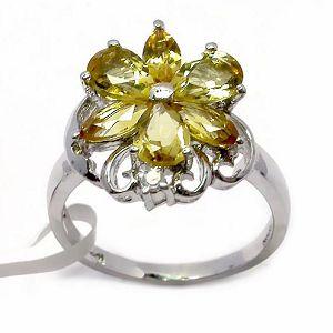 sterling silver citrine ring blue topaz pendant prehnite earring amethyst jewelry se