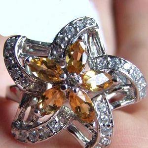 sterling silver citrine ring earring ruby bracelet amethyst jewelry