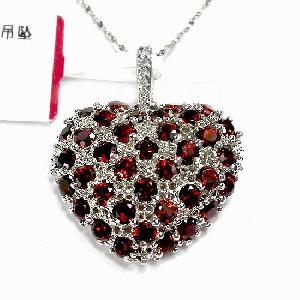 sterling silver garnet pendant fashion jewelry amethyst earring prehnite ring brace