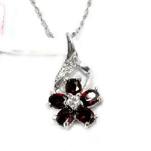 sterling silver garnet pendant prehnite earring fashion smoky quartz ring