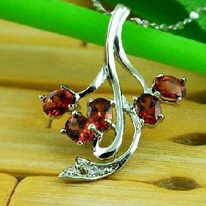 sterling silver garnet pendant tourmaline ring blue topaz citrine earring br