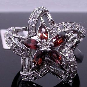 sterling silver garnet ring agate earring tourmaline pendant fashion jewelry