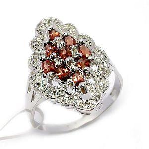 sterling silver garnet ring amethyst bracelet olivine earring fashion gemstone jewel