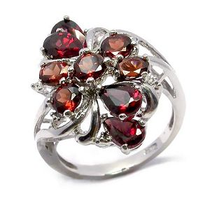 sterling silver garnet ring citrine earring ruby bracelet pendant jewelry