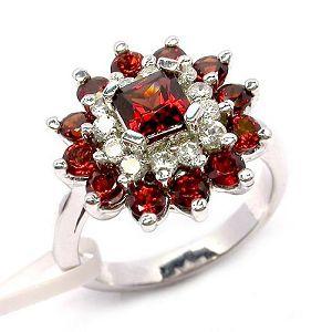 sterling silver garnet ring moonstone gemstone jewelry prehnite pendant