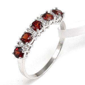 sterling silver garnet ring prehnite chalcedony bracelet amethyst earring