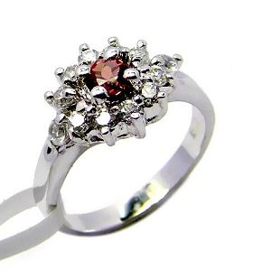 sterling silver garnet ring smoky quartz stud earring gemstone jewelry
