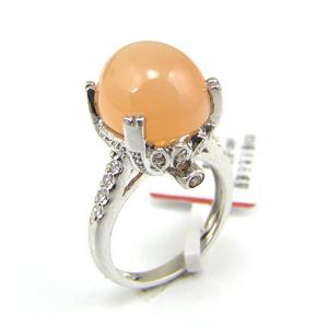 sterling silver moonstone ring blue topaz olivine earring chalcedony pendant