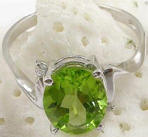 sterling silver olivine ring rainbow stone gemstone jewelry agate earring