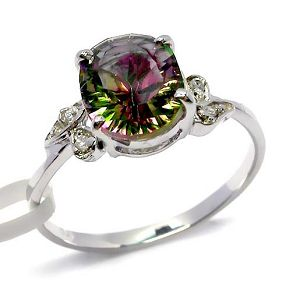 sterling silver rainbow ring gemstone jewelry garnet earring fashion