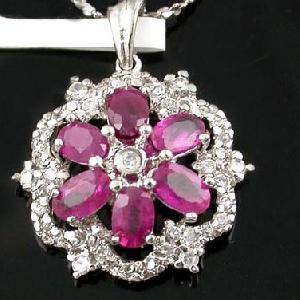 sterling silver ruby pendant prehnite earring ring chalcedony bracelet