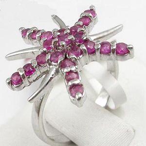 sterling silver ruby ring tourmaline pendant garnet citrine bracelet earring