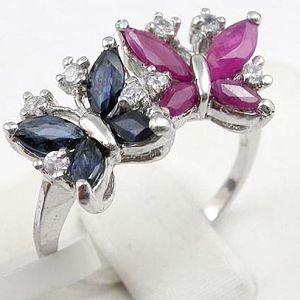 sterling silver sapphire ruby ring tourmaline amethyst bracelet earring