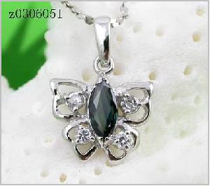 sterling silver sapphire pendant blue topaz olivine earring ruby ring bracelet