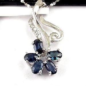 sterling silver sapphire pendant ring prehnite earring garnet bracelet